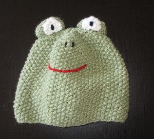 Frog hat, design by Marli