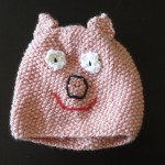 Pig hat, design by Marli