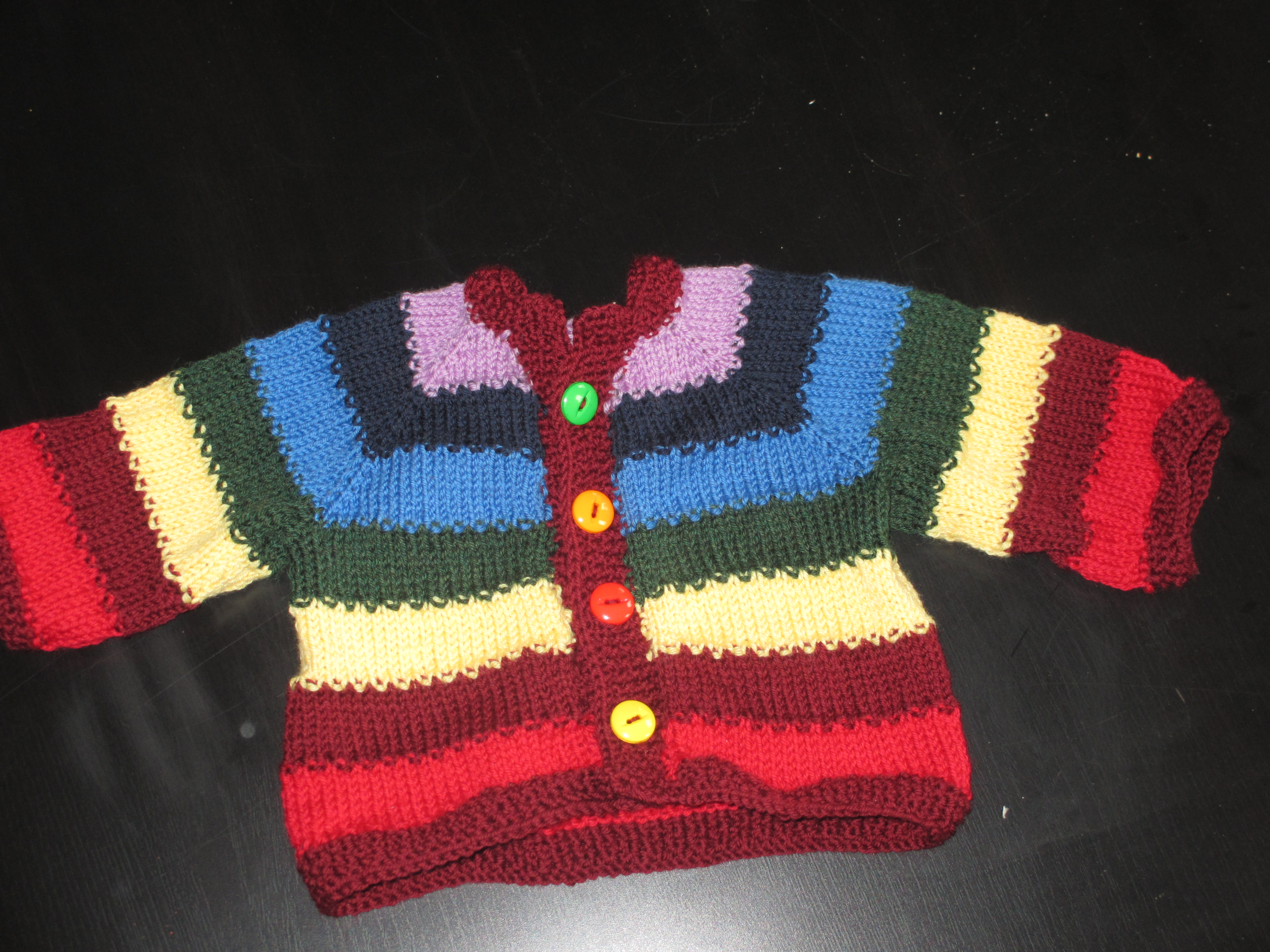 Tulip sweater, made with superwash yarn.