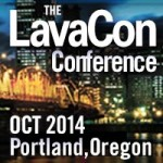 "Logo for LavaCon, where I gave my talk ""Content Strategy and Information Architecture: What the Hell?!"""