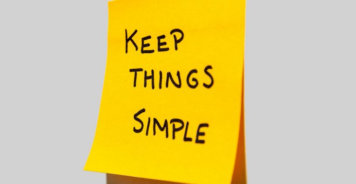 "A post-it that says ""Keep Things Simple"""