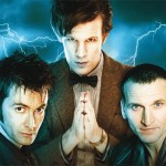an image of 3 Doctor Whos - sub-brands to the Doctor Who umbrella brand