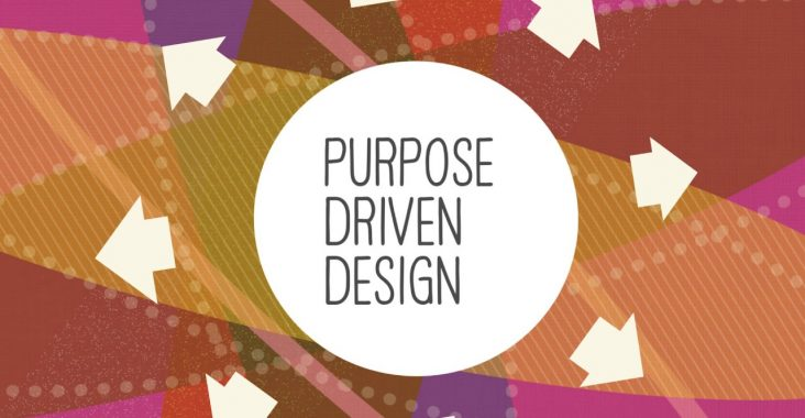 Title slide of Purpose-Driven Design talk by Amy Cueva