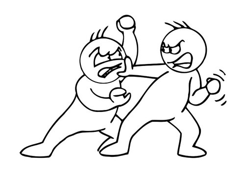 Image of 2 people fighting (over an SEO strategy?)