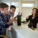 Image of kids speaking to Alexa (How should we speak to Alexa?)