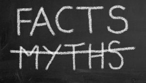"Image saying ""Facts"" above ""Myths"" with ""Myths"" crossed out. Links to an article answering ""How long should my page be?"""