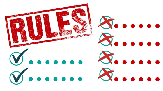 "An image of ""rules"" representing compliance regulations"