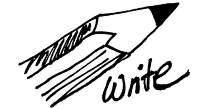An image of a pencil: how to write