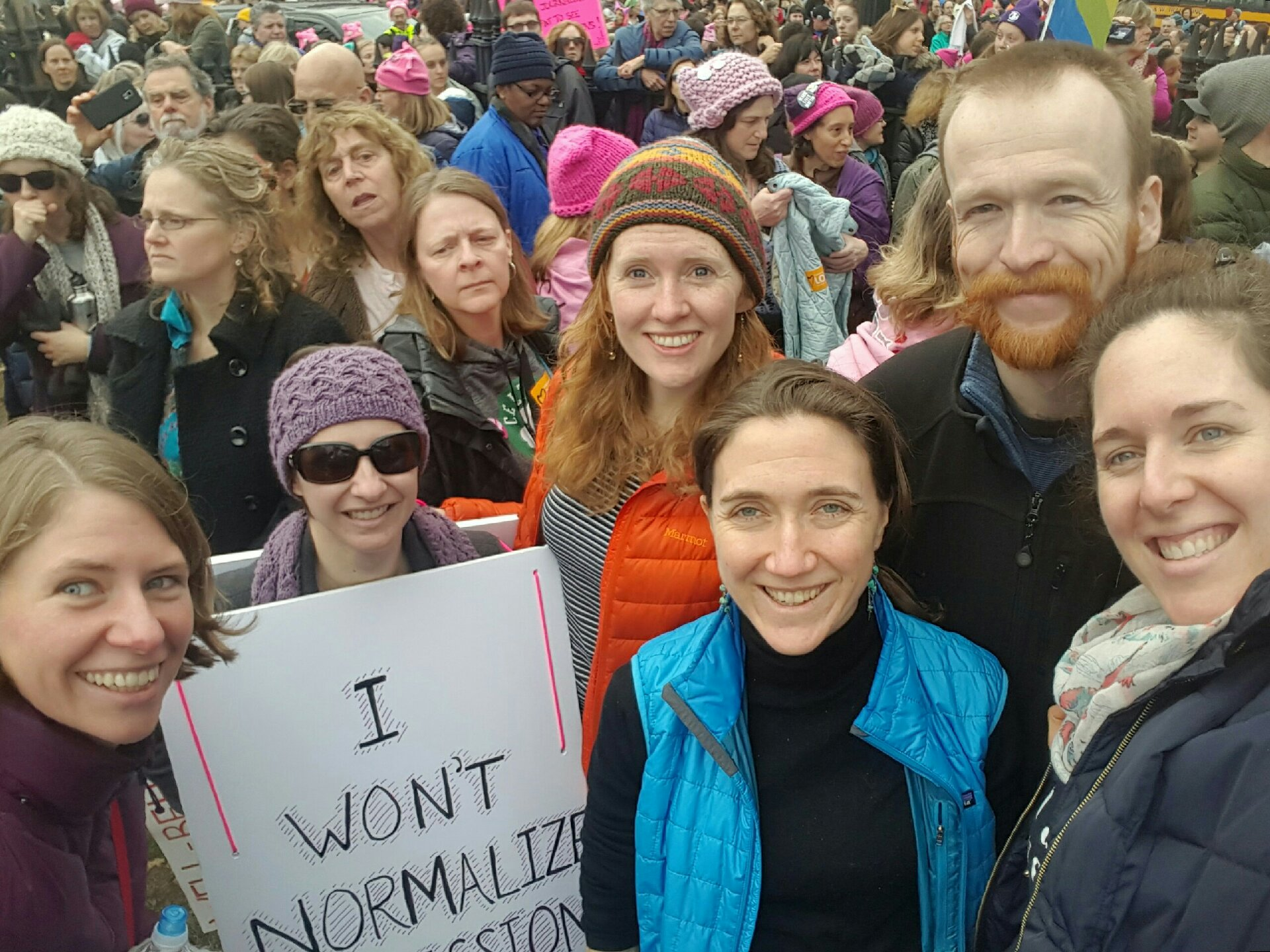 An image of me at the March for Women