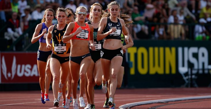 Image of female runners on a track