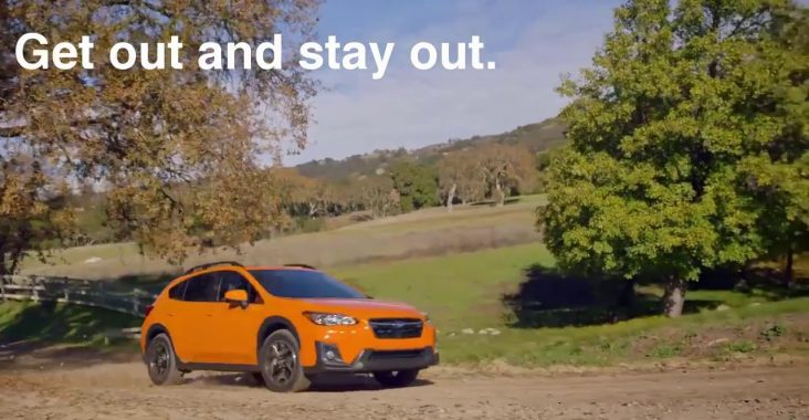 """""""Get out and stay out"""" advertisement for Subaru is an example of great storytelling in UX"""